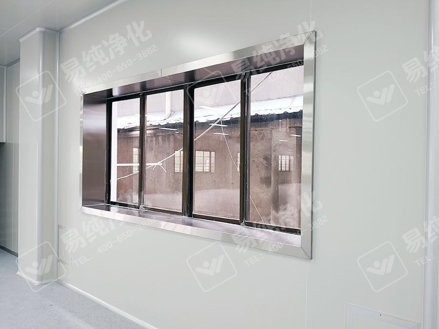 采光窗全不锈钢包边紧密严实与整体工程协调一致.jpg